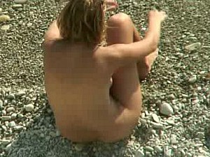 blonde and brunette at nude beach 1