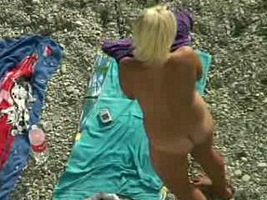 blonde and brunette at nude beach 4